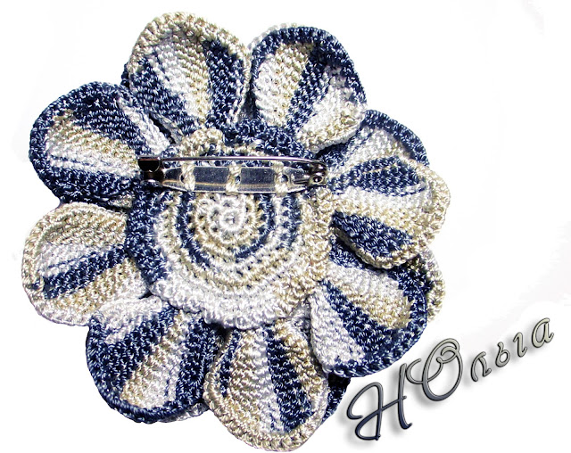 crochet brooch брошь крючком
