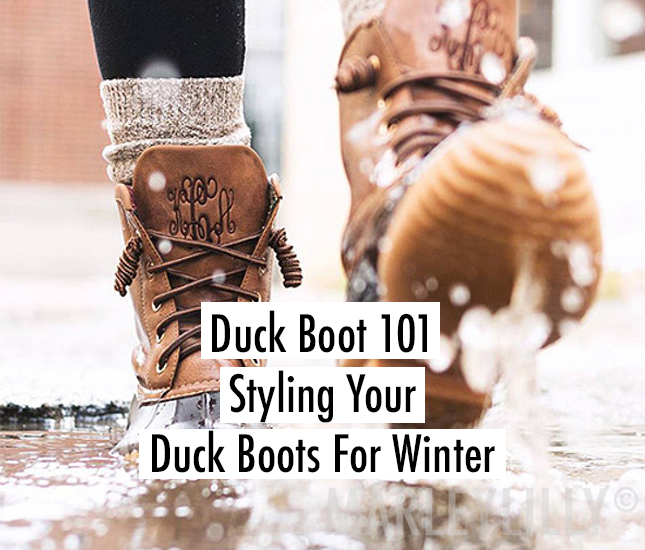 tips for styling monogram duck boots