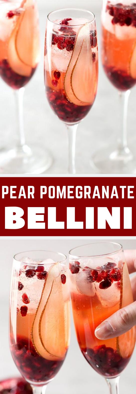 PEAR POMEGRANATE BELLINI #Drink #EasyRecipe