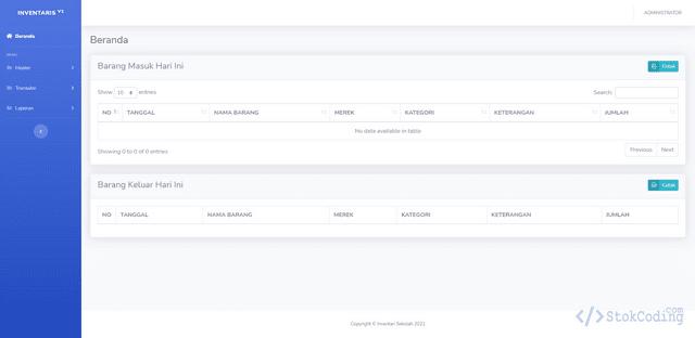 Aplikasi Inventaris Sekolah Berbasis Web (PHP)