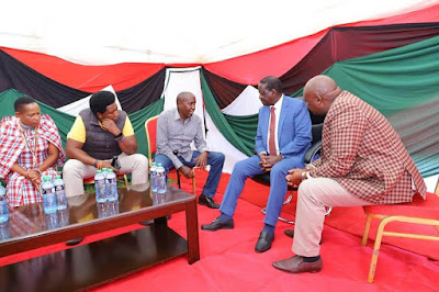 ODM leader Raila Odinga with Maa community leaders. PHOTO | BMS
