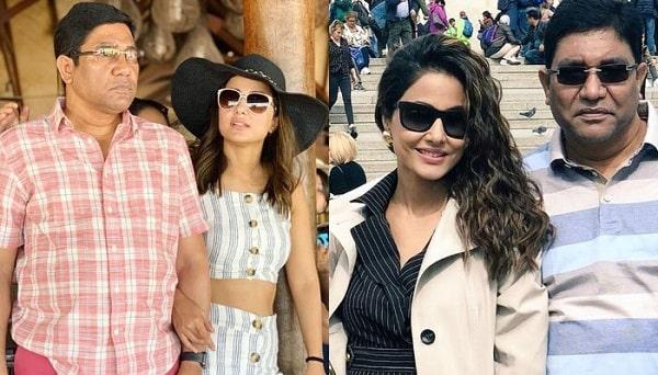 Indian Actress Hina Khan's Father Dies