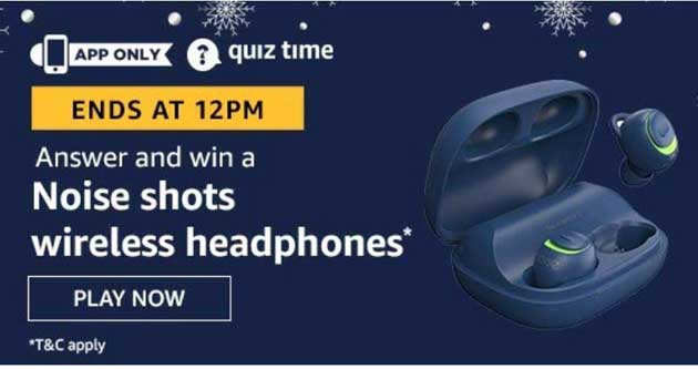 The Amazon Quiz Answers Win Noise Shots Wireless Headphones The Amazon Quiz Answers Win Noise Shots Wireless Headphones