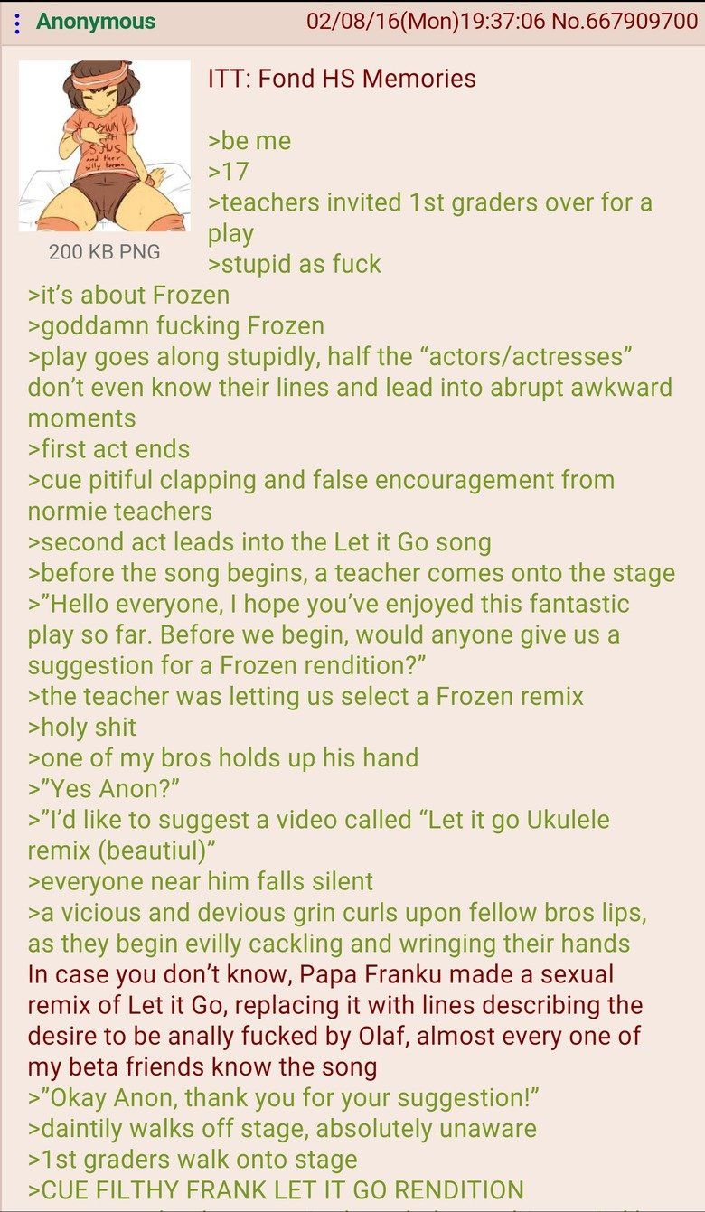 High school memories Green Text