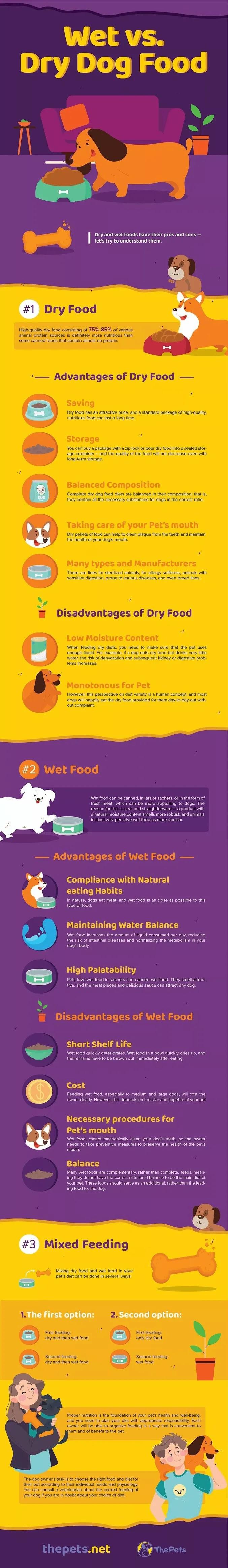 Wet vs. Dry Dog Food #infographic