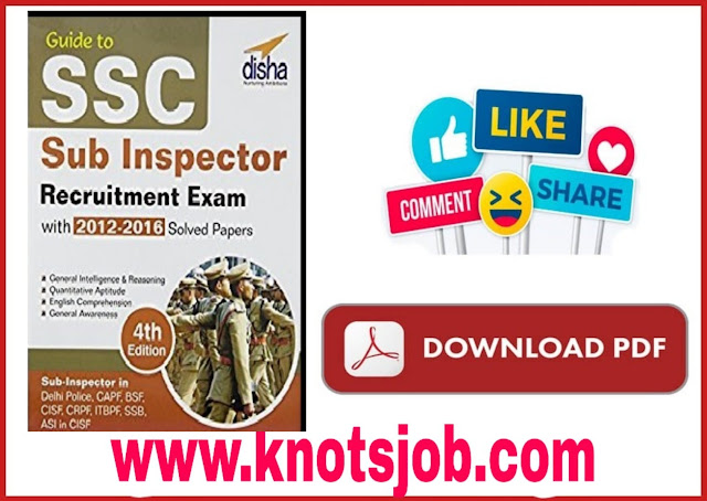 Guide to SSC Sub Inspector Recruitment Exam with Solved Papers
