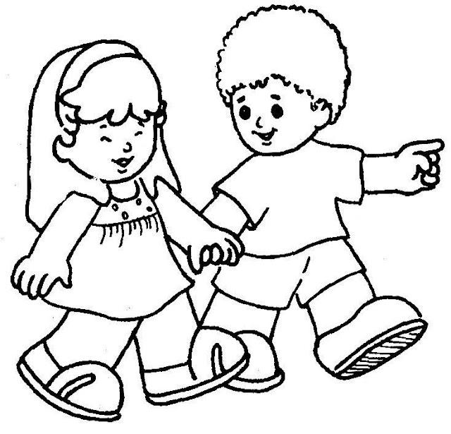 Escola Dominical Infantil Atividade Para Colorir Amizade