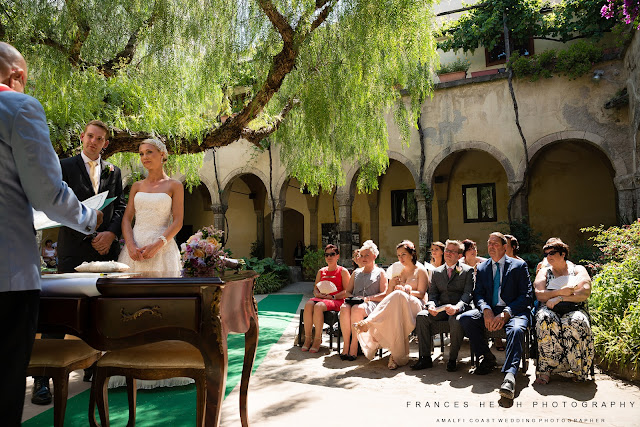 Ceremony at cloisters in Sorrento