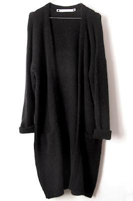 Gilet en laine noir Coatpeople