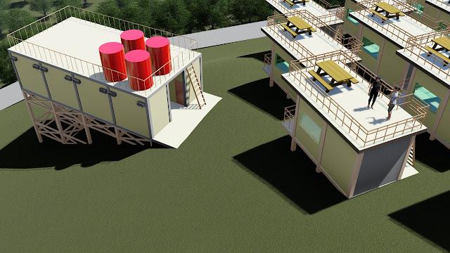 rencana site plan villa