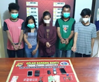 Pesta Narkoba Di Kosan, 3 Pria 2 Wanita Diringkus Polisi Bima Kota