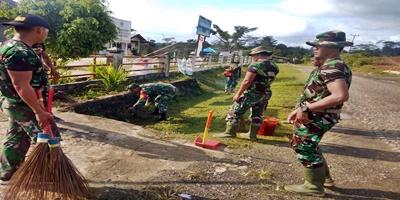 Semangat Gotong Royong TNI Bersama Rakyat