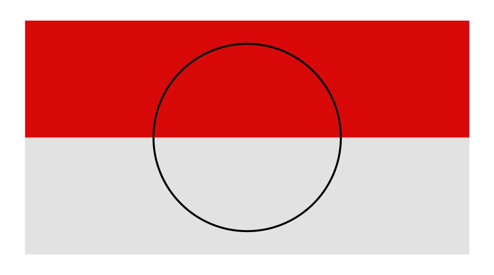 Lingkaran diatas bendera