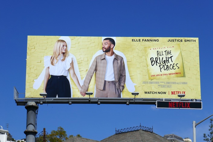 All The Bright Places Netflix film billboard