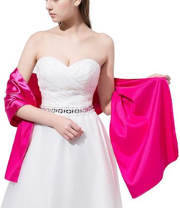 Cheap Satin Shawls Wraps Scarfs for Evening Dresses