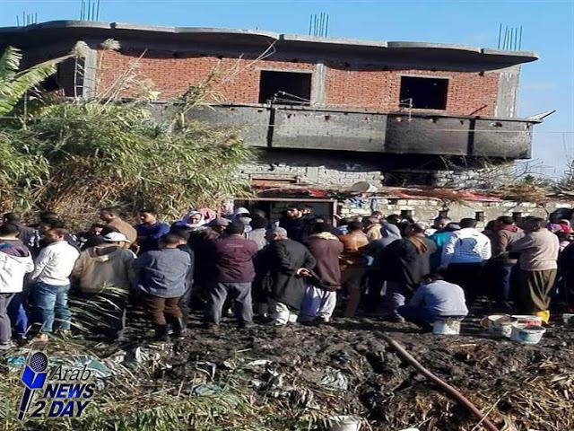 حادث مقتل ٧ من أسرة واحدة في البحيرة وحرق منزلهم ArabNews2Day