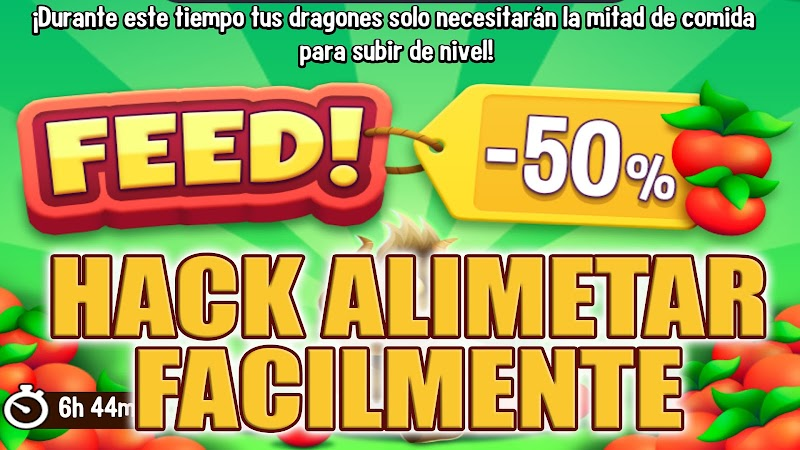 HACK ALIMENTAR A TUS DRAGONES RAPIDAMENTE 50% MENOS DE COMIDA