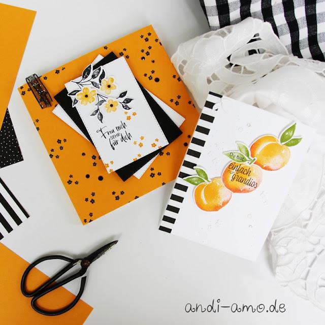 Karte und Geschenk Team andi-amo Süße Pfirsiche