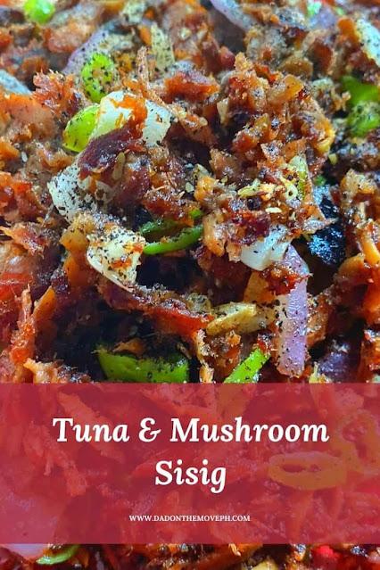 How to cook tuna and mushroom sisig