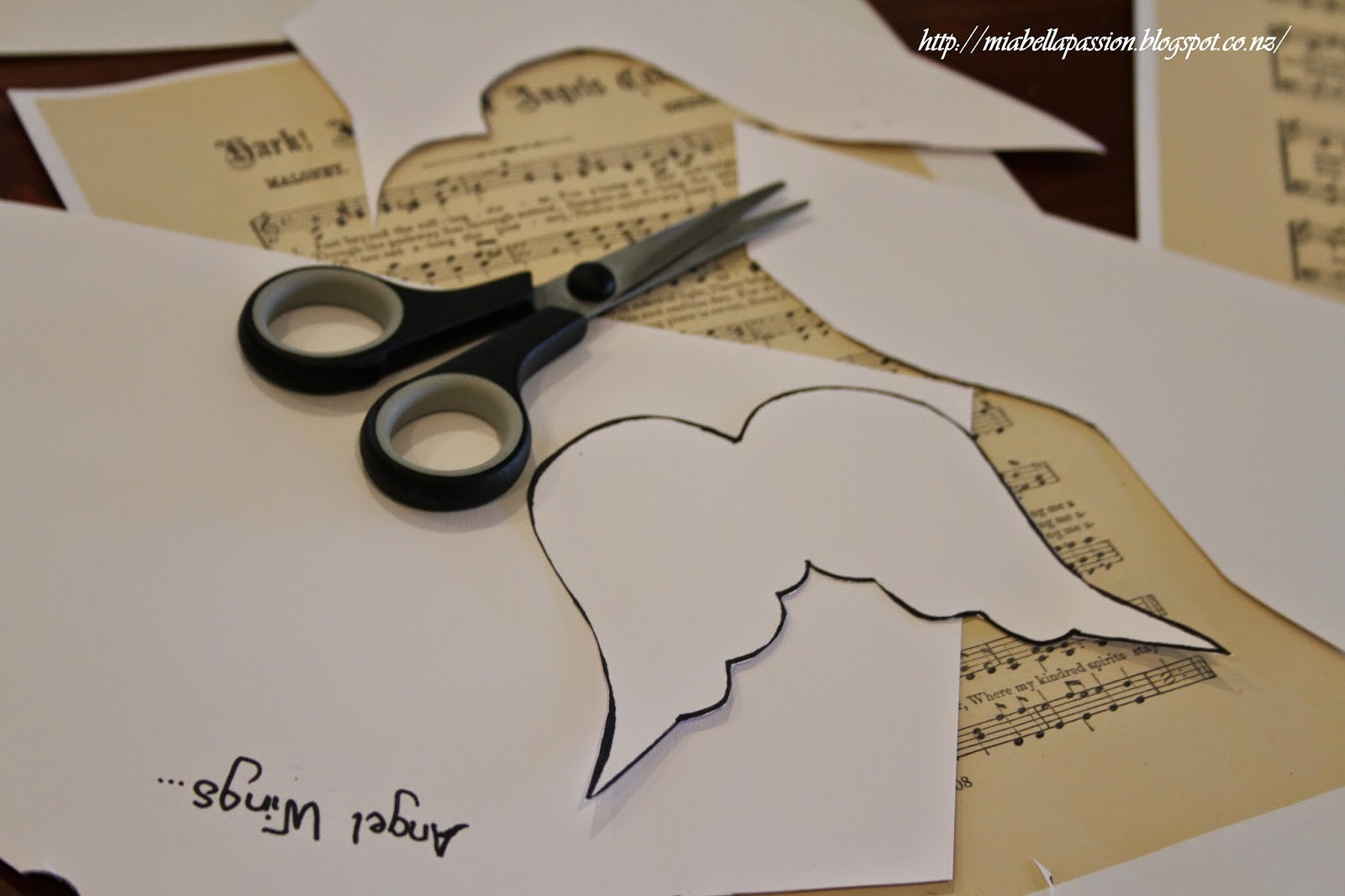 Mia Bella Passions: Music Sheet Angels Wings Just for Christmas...