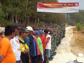 Pelaksanaan Binter terpadu Kodim 0703/Cilacap : Gelar Karya Bakti di Dusun Sindeh