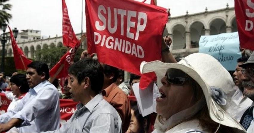 SUTEP ratifica paro nacional convocado para el 21 de noviembre