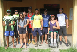 Pólo nacional de paracanoagem da Ilha treina atletas para as olimpíadas de Tóquio
