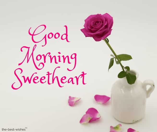 pictures of good morning sweetheart