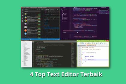 4 Top Text Editor Terbaik Untuk Programmer 2019