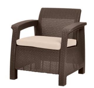 Keter Corfu Brown Armchair