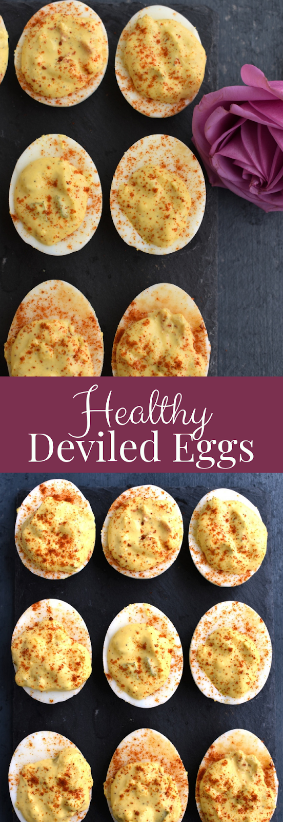 Picture of healthy deviled eggs