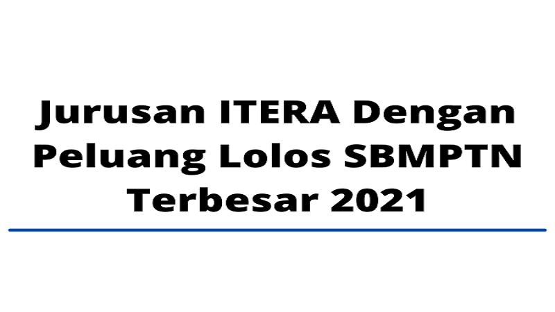 Jurusan ITERA Dengan Peluang Lolos SBMPTN Terbesar 2021