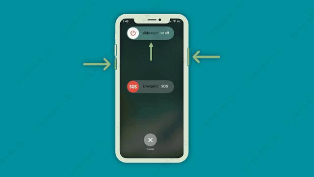 mematikan iphone x xr xs dan xs