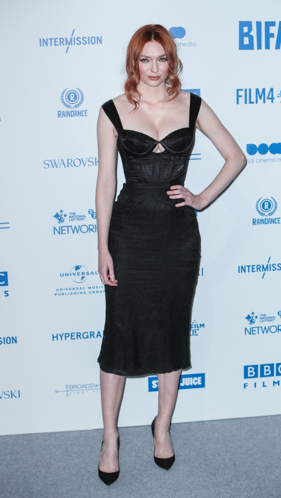 Eleanor Tomlinson goes busty for the 2019 British Independent Film Awards