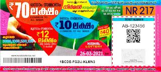 26-03-2021 Nirmal kerala lottery result,kerala lottery result today 26-03-21,Nirmal lottery NR-217,kerala todays lottery result live