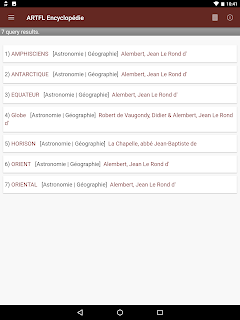 Encyclopédie app metadata query results