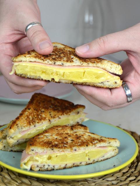 Sandwich hawaiano jamon piña