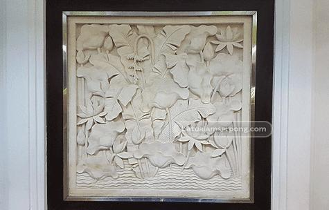 motif relief batu alam
