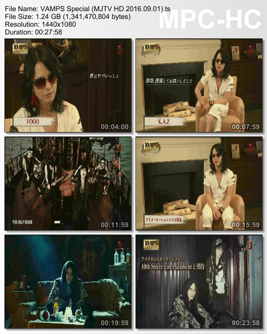 [TV-Variety] VAMPS スペシャル (MJTV HD 2016.09.01)