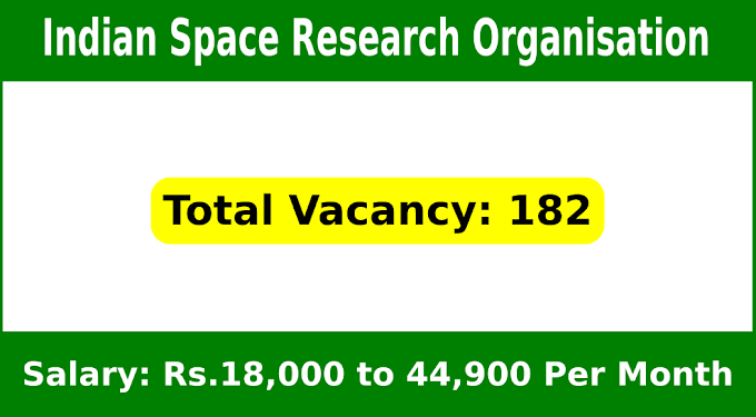 Indian Space Research Organisation Recruitment 2020