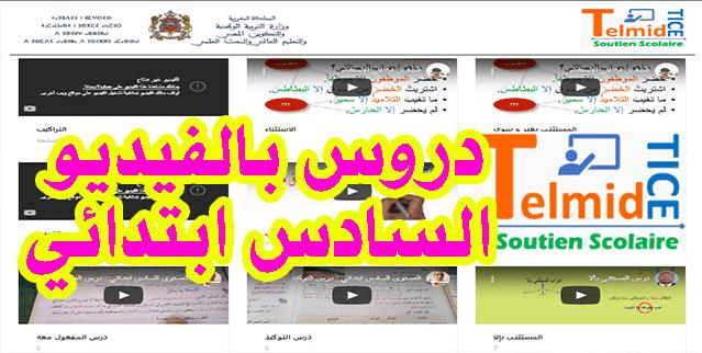 شرح دروس اللغة العربية السادس ابتدائي بالفيديو - شرح مميز