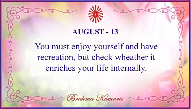 Thought For The Day August 13
