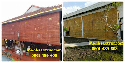 mành tre trúc chống nắng mưa chất lượng giá rẻ