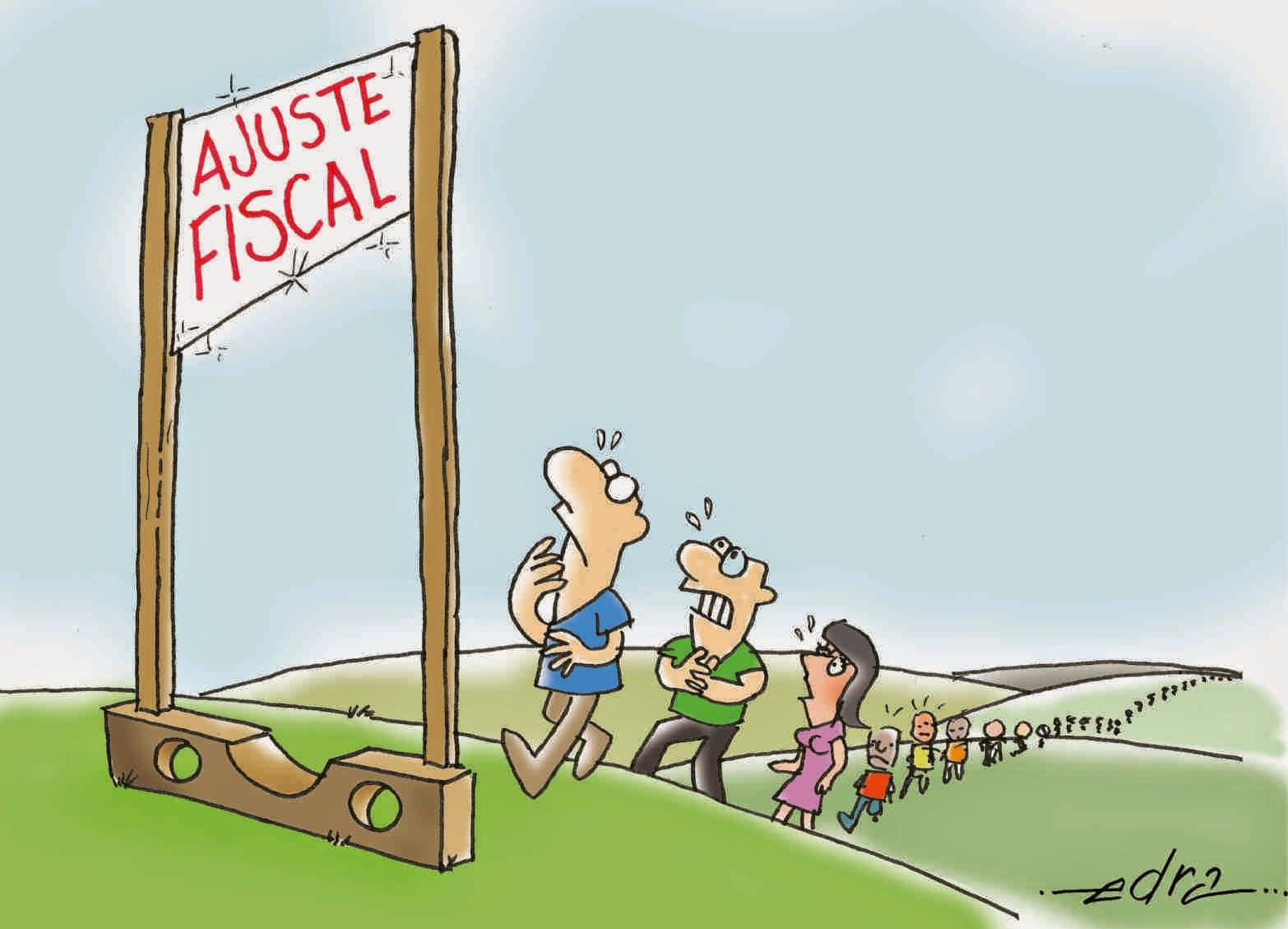 Resultado de imagem para ajuste fiscal   charges