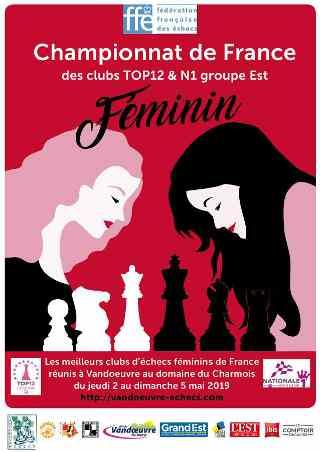 Top 12 féminin d'échecs à Vandoeuvre-lès-Nancy