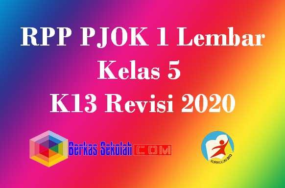 RPP PJOK 1 Lembar Kelas 5 K13 Revisi 2020