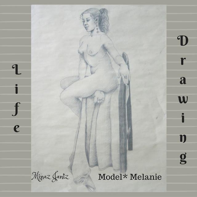 Nude Drawings by Minaz Jantz. Model Melanie