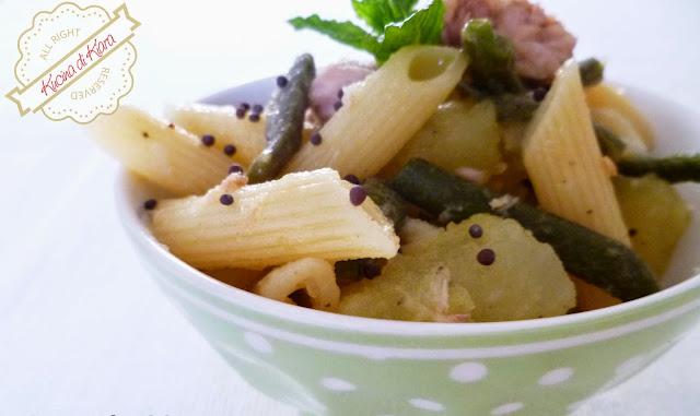 Pasta fredda con fagiolini, patate e tonno