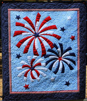Fireworks wall hanging by QuiltFabrication