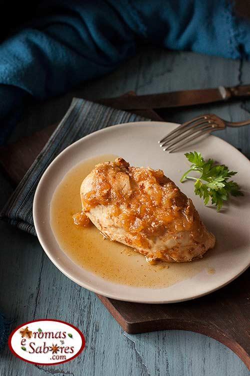 Peito de frango fácil de panela de pressão
